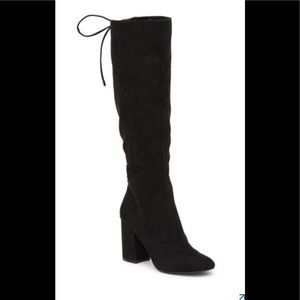 Kenneth Cole Corie lace black suede boot sz 9